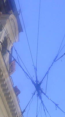 sky seen throu wires in Belgrade Original by Anamarija Marinovic