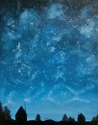 Blue Painting - Sky Show by Stephanie Ekwere