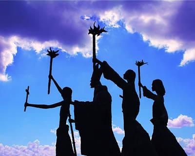 Sky Statues Art Print