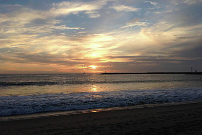 Photograph - Sky Swirls Over Toes Beach by Lorraine Devon Wilke