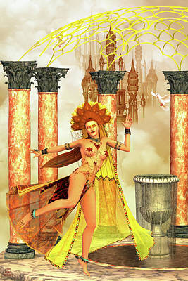 Kali Digital Art - Sky Temple Kali Dancer. by Grant Prescott