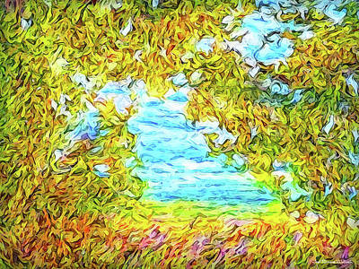 Digital Art - Sky Through The Trees by Joel Bruce Wallach