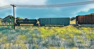 Secondlife Wall Art - Digital Art - Sky Train by Evanescence Cuntiva
