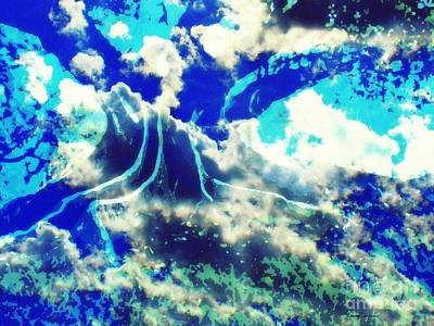 Mixed Media - Sky Tree Fantasy by Leanne Seymour