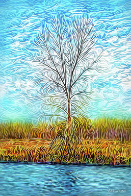 Digital Art - Sky Tree Fusion by Joel Bruce Wallach