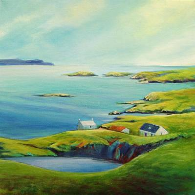 Scotland Painting - Sky View From Harris by Stephanie  Maclean