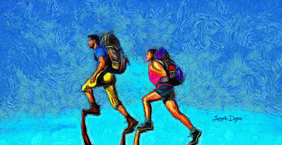 Sport Painting - Sky Walkers by Leonardo Digenio