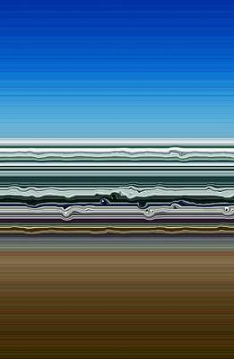 Abstract Landscape Royalty-Free and Rights-Managed Images - Sky Water Earth by Michelle Calkins