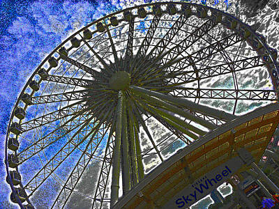 Photograph - Sky Wheel by Elizabeth Hoskinson