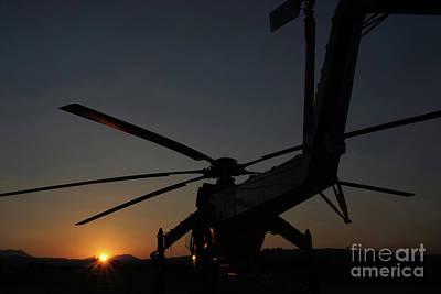 Photograph - Skycrane Sunset by Rick Mann