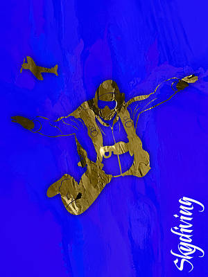 Mixed Media - Skydiving Collection by Marvin Blaine