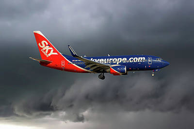 Aircraft Photograph - Skyeurope Boeing 737-7gl by Smart Aviation