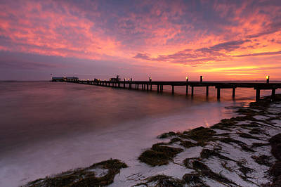 Art Print featuring the photograph Skyfire - Anna Maria  by Patrick Downey