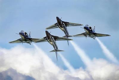 A-4 Digital Art - Skyhawk Double Farvel by Peter Chilelli