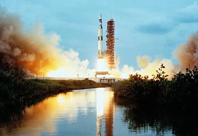 Skylab Space Station - Saturn V Launch Art Print