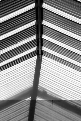 Photograph - Skylight Abstract 100 Bw by Mary Bedy