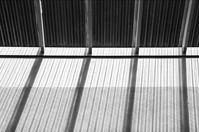 Photograph - Skylight Abstract 9 Bw by Mary Bedy