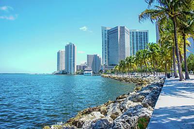 Skyline And Bayfront Park, Miami, Florida Print by Art Spectrum