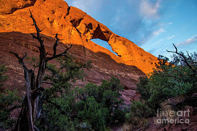 Photograph - Skyline Arch At Sunset - Arches National Park - Utah by Gary Whitton
