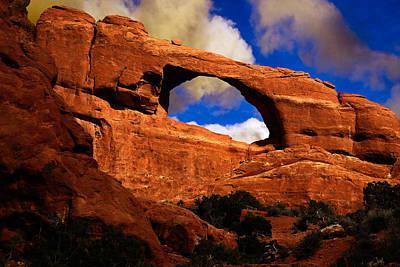 Photograph - Skyline Arch by Harry Spitz