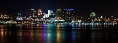 Photograph - Skyline At Night by Keith Allen