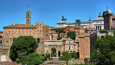Photograph - Skyline At The Roman Forum by Eduardo Jose Accorinti