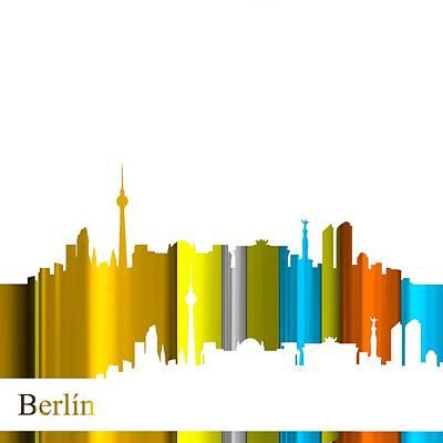 Berlin Digital Art - Skyline Berlin  by Alberto  RuiZ