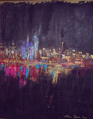 Painting - Skyline Black by Lilliana Didovic