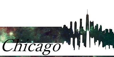 Graphic Digital Art - Skyline Chicago by Alberto  RuiZ
