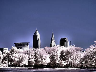 Ohio Photograph - Skyline Cleveland, Ohio by Bob LaForce