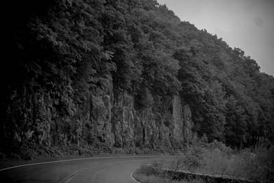 Photograph - Skyline Drive In Black And White by Kelly Hazel