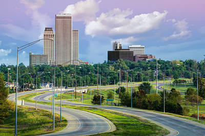 Skyline Drive To Tulsa Oklahoma  Art Print