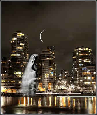 Photograph - Skyline Falls Mindscape by Wayne King