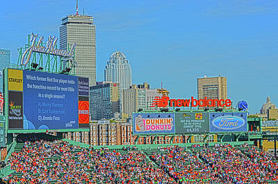 Fenway Park Photograph - Skyline From Fenway Park by Bob LaForce