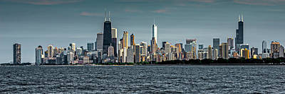 Photograph - Skyline From Montrose Harbor Dsc7737 Ver2 Slim by Raymond Kunst