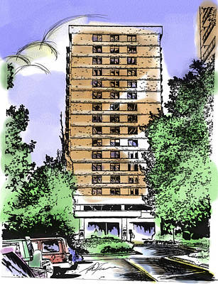 Skyline House Condo Art Print