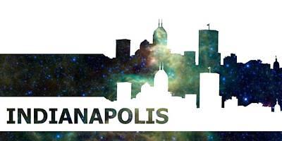 Skyline Digital Art - Skyline Indianapolis by Alberto  RuiZ