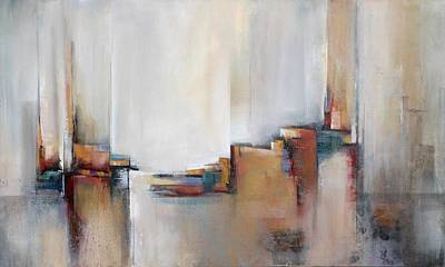 Architectural Mixed Media - Skyline by Karen Hale
