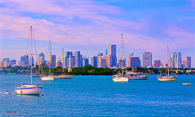 Photograph - Skyline Miami Style by Judy Kay