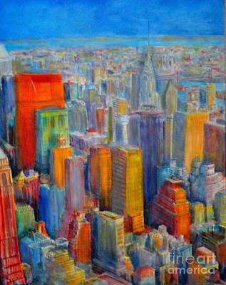 Painting - Skyline New York by Dagmar Helbig