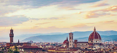 Photograph - Skyline Of Ancient City Of Florence, Italy. by Michal Bednarek