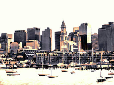 Painting - Skyline Of Boston by Lanjee Chee