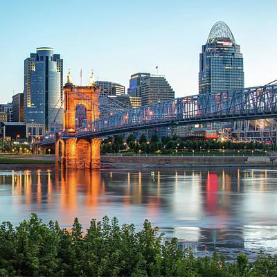 Photograph - Skyline Of Cincinnati Over The Ohio River  by Gregory Ballos