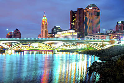 Photograph - Skyline Of Columbus Ohio At Night by Gregory Ballos