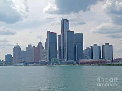 Photograph - Skyline Of Detroit by Ann Horn