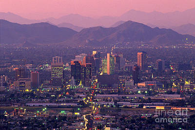 Photograph - Skyline Of Downtown Phoenix Arizona by Wernher Krutein