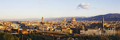 Skyline Of Florence From The Piazza Michelangelo At Dawn Art Print by Jeremy Woodhouse