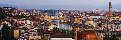 Skyline Of Historic Florence Art Print by Jeremy Woodhouse