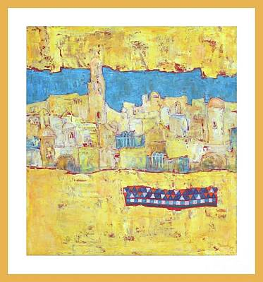 Wall Art - Painting - Skyline Of Morocco by Marcela Levinska