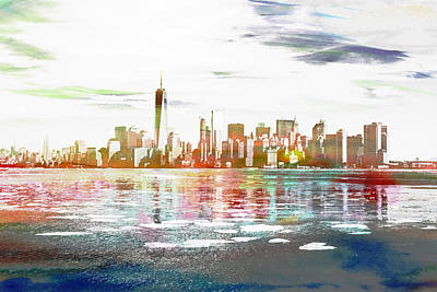 Digital Art - Skyline Of New York City, United States by Anthony Murphy